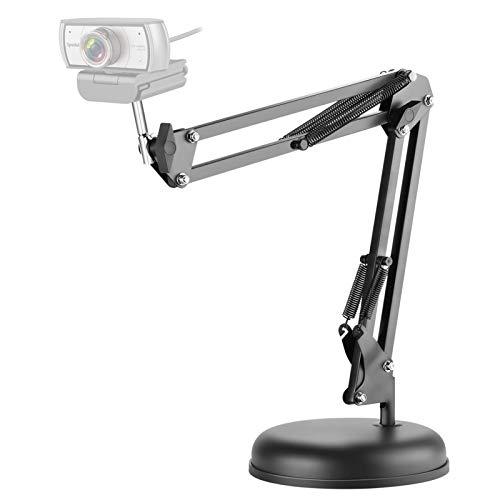 Spedal Webcam Stand, Boom Arm Stand with Base, Flexible Gooseneck, Compatible with Logitech Webcam C922 C920e C920 C270 C925 C930e C922 C920x, Hero 8/7/6/5