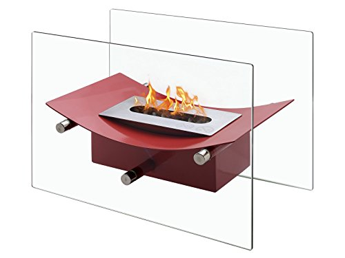Great Features Of IGNIS Portable Ventless Bio Ethanol Tabletop Fireplace - Verona Red (Red)