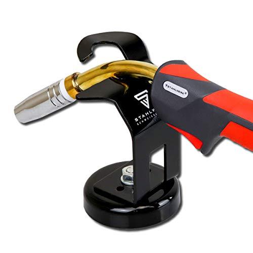 STAHLWERK MIG MAG Schweißbrenner-Halterung mit magnetischem Standfuß, universeller Brennerhalter für alle MIG Brenner wie MB-15 AK, MB-25 AK, schwarz - 3