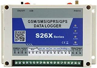 QWERTOUR GSM GPRS Analog datalogger trådlös fjärrkontroll 4 analog ingång 1 digital relä utgång temperatur larmsystem S262