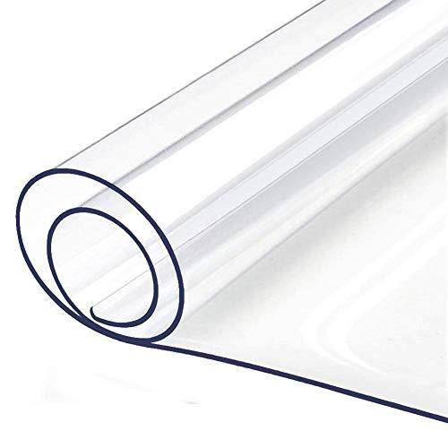 WUZMING Mantel Transparente 1,5 Mm De Espesor Cubierta De Mesa Impermeable PVC Antideslizante Lavable Hogar Oficina Tapete De Mesa 51 Tamaños (Color : 2mm, Size : 60x60cm)