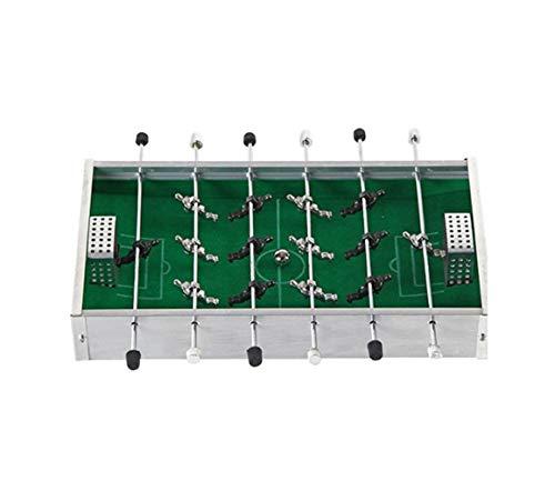 JBHURF Tischfußballspiel, Metall kleine Kicker, 6 Aluminiumnichtrostdoppelspielmaschinen, tragbares Fußballfeld grüner Teppich, Multifunktions Kicker