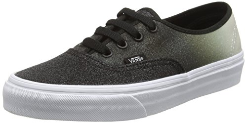 Vans Unisex-Erwachsene Authentic Low-Top, Schwarz (2 Tone Glitter Silver/Black), 40 EU