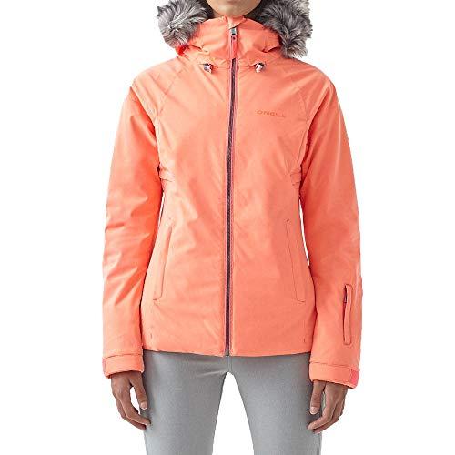 O'Neill Damen Snowboard Jacke Curve Jacket, neon Tangerine pink, XL