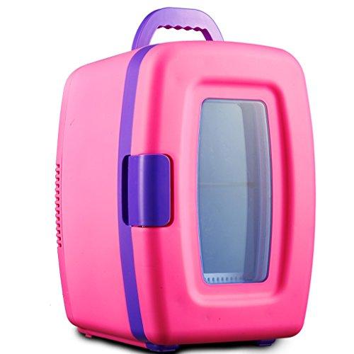 Refrigerador de verano 10L Mini refrigerador de coche/refrigerador Refrigerador de coche pequeño Estudiante Dormitorio de mano Refrigerador fresco (Blanco/Rosa) barir (Color : Pink)