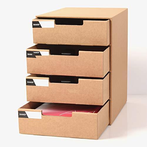 Panavage レターケース 小物入れ引き出し レターケース 書類ケース 収納ボックス 卓上小物ケース A4 小物収納 - 4段式