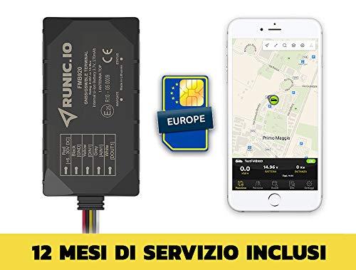 RUNIC.IO Localizzatore GPS tracker inclusi 12 MESI di traffico SIM Europa e servizio Cloud