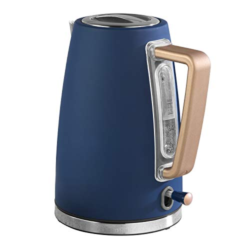 Salter EK3931IND Opulence Kettle | 1.7 Litre Capacity | 3000 W | Rapid Boil-Dry Protection | Auto Shut-Off | Soft-Touch Finish | Indigo