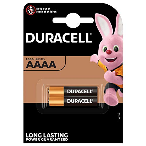 Duracell - Pilas especiales alcalinas AAAA de 1.5V, paquete de 2 unidades (LR8D425) diseñadas para lápices...
