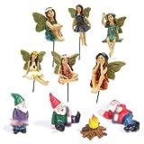 kekafu Garden Fairy Statues and Gnome Set of 10 Angel Statue Mini Elves Statue Miniature Dwarf Figurines Fairies Garden Bonsai Decoration Fairy Figurines Fairy Garden Accessories
