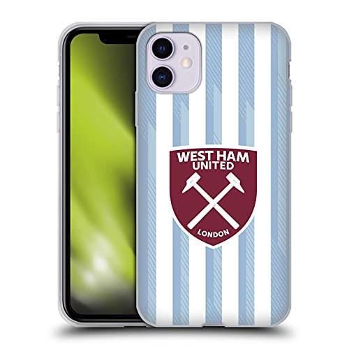 Head Case Designs Licenciado Oficialmente West Ham United FC Away 2021/22 Crest Kit Carcasa de Gel de Silicona Compatible con Apple iPhone 11