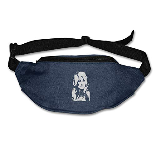 NOT Dolly Parton Running Belt Waist Pack - Water Resistant Runners Belt Fanny Pack for Hiking Fitness  Adjustable Running Pouch for All Kinds of Phones