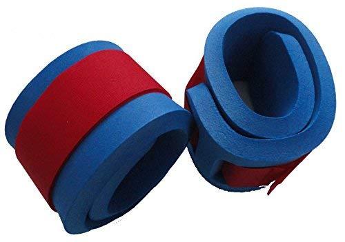 Schwimmbänder Armschwimmer Beinschwimmer 300x80x38mm Starker Auftrieb NEU&Original (Blau) Klettbänder Klettverschluss farblich sortiert
