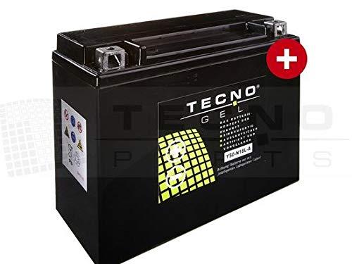 TECNO-GEL Motorrad-Batterie Y50-N18L-A für YAMAHA XV 1100 SP, Virago 1989-1999, 12V Gel-Batterie 20Ah (DIN 52016), 205x90x160 mm inkl. Pfand