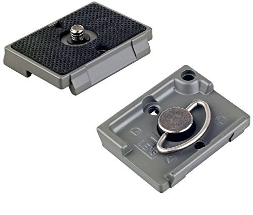 IVATION Quick Release Plate for the RC2 Rapid Connect Adapter (SET OF 2) for MANFROTTO MHXPRO-3W, MHXPRO-2W, MHXPRO-BHQ2, MHXPRO-3WG XPRO Tripod Heads