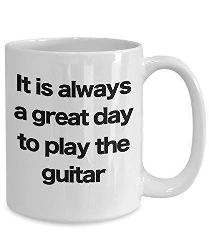 Ol322ay gitaarbeker witte koffiekop-grappig cadeau voor muzikant-rockstar-band uitvoeringen-akoestische E-bas