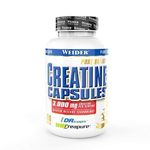 WEIDER Creatine Capsules - Creapure Kreatin Monohydrat 100 Kapseln, Krafttraining