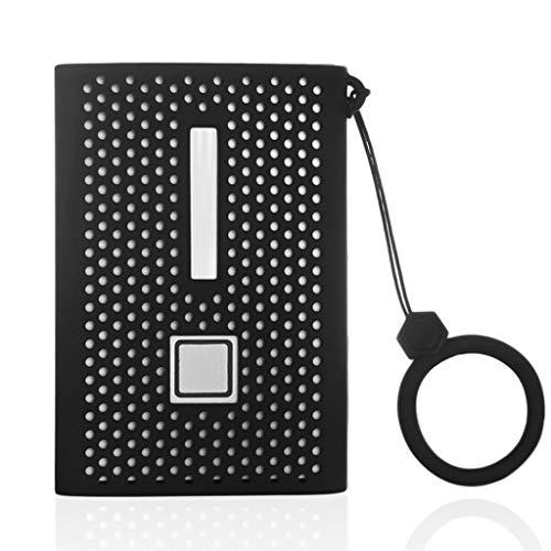 geneic Funda protectora de silicona suave antideslizante con cordón para disco duro móvil Sam-sung T7 Solid State Drive