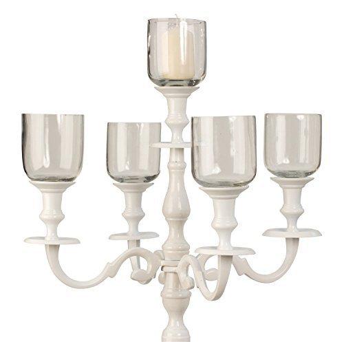 Unbekannt 5 Stück passende Glaseinsätze Kerzenständer 5-armig Kerzenleuchter Kandelaber Höhe 10 cm Durchm. 7,5 cm