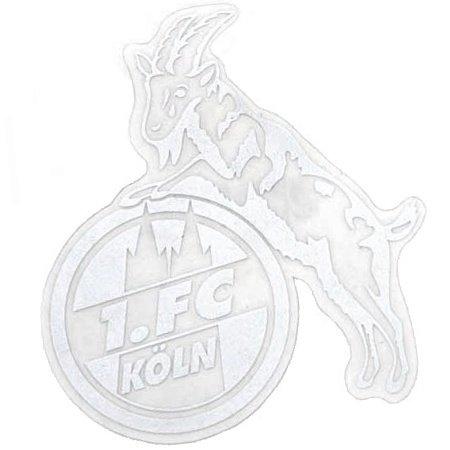 STICKER AUFKLEBER transparent (silber) 1. FC KÖLN klein