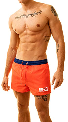 Diesel Herren Badeshorts Coralred Sandy (Large, Orange)