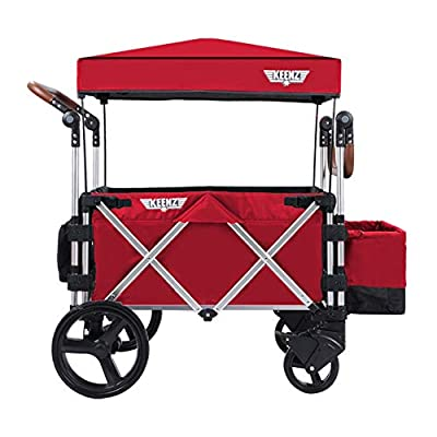 Keenz Stroller Wagon – 7S Pull/Push Wagon Stroller – Safe and Secure Baby Wagon Stroller and Stroller for Big Kids – Versatile Wagon Stroller Ideal for Special Needs, Red by KEENZ