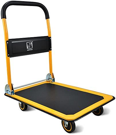 Push Cart Dolly by Wellmax Moving Platform Hand Truck Foldable for Easy Storage and 360 Degree product image