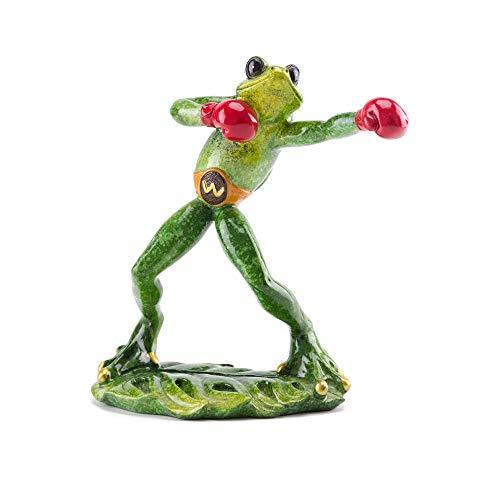 ZGPTX Deko Modern Skulpturen Wohnzimmer Moderne Fensterbank Statuen Boxchampion Froschfigur Tier Boxer Figur Wohnzimmer Büro