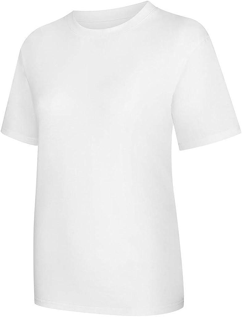 MODOQO Men's Short Sleeve T-Shirt Crew Neck Summer Casual Loose Fit Tee Tops