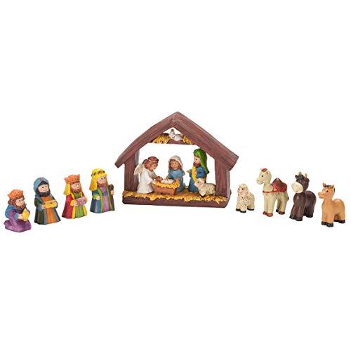 HOLIDAY PEAK Resin Tabletop Nativity Set Scene