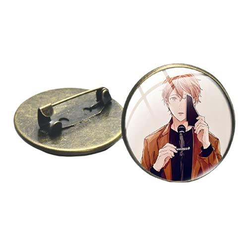 Japón Anime Dado Pin Personajes Pequeños Decoración Arte Foto Broche Lindo Moda Decorativo Broche de Metal Pin Insignia para Abanicos