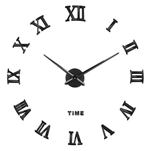 SOLEDI Reloj de Pared 3D DIY Reloj de Etiqueta de Pared Decoración Ideal para la Casa Oficina Hotel Restaurante