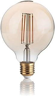 Ideal Lux Vintage Amber Bulb E27 LED 4W Globo G95 300lm 2200K Warm Light