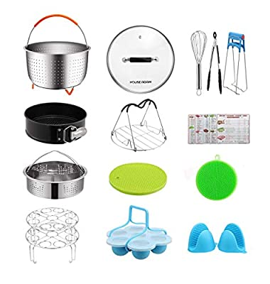Gift Pack Accessories Set for Pressure Cookers, Universal Compatible with 5/6/8 Qt - Original Sturdy Steamer Basket with Instant Pot Accessories for All of Life's Need, Dishwasher Safe (Renewed)