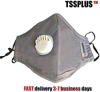 TSSPLUS PM2.5 Anti Air Pollution Reusable Washable Face Mask Respirator 2 Filters (Random color)