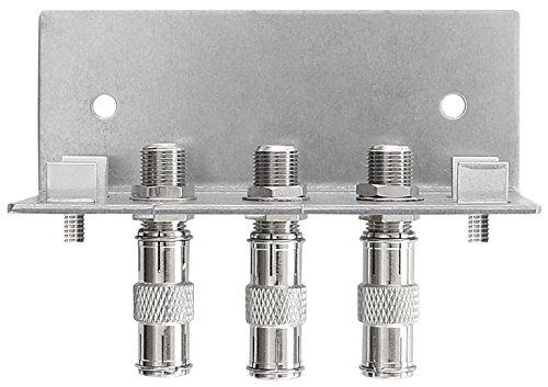 Axing QEW 3-12 Erdungswinkel (3-fach einreihig) mit  F-Schnellsteckern für SPU 5xx-05 Multischalter