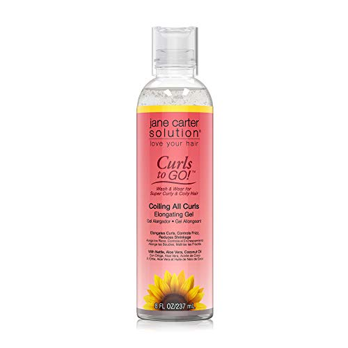 Price comparison product image Jane Carter Solution Curls to Go Coiling all Curls Elongating Gel (8oz) - Moisturizing,  Reduce Frizz (Coiling All Curls Gel)