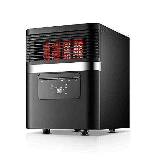 Haizh Infrarood warmtestraler W/Remote elektrische open haard verwarming 1500 W zwart