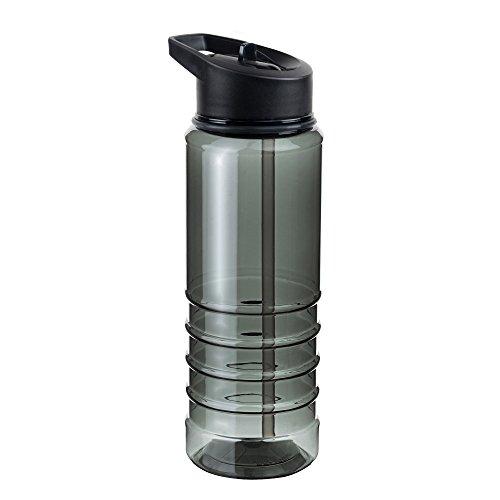 MELIANDA MA-7100 leichte Sporttrinkflasche Trinkhalmsystem 750 ml geschmacksneutral grau