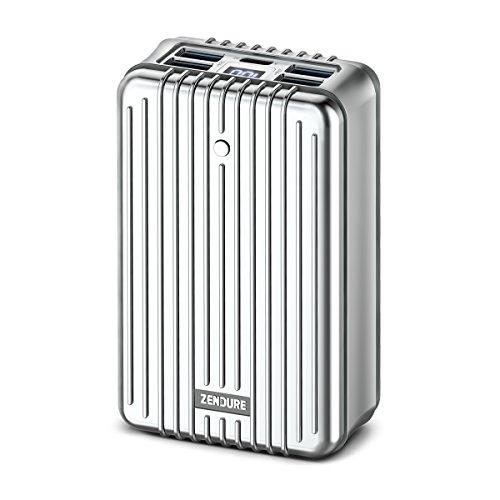 Zendure A8PD - Batterie Externe 26800mAh (Résistante aux Chocs, 5-Port Charge Rapide 3.0, 42W Power Delivery pour iPhone, MacBook, iPad, Android, Nintendo Switch, USB, USB-C, Portable), Argent