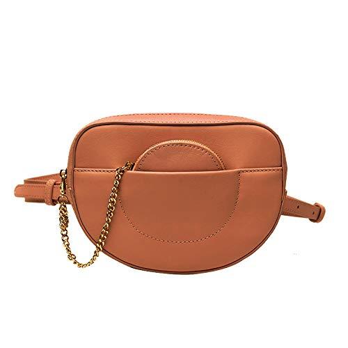 Dboar Marsupio Borsa Cintura Donna Moda Waist Pack Fanny Pack Borse a Tracolla Picolla in Pelle (Marrone)