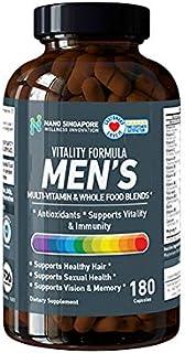 Vitality Formula Men's Multi-Vitamins (Full Spectrum) + Whole Food Blends + All Natural Herbs, Antioxidant - 180 Capsules