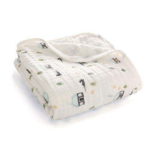 VWH B/éb/é en Mousseline Swaddle Couvertures de R/éception Coton Mousseline Emmaillote Couvrir 120 x 120 cm /Él/éphant