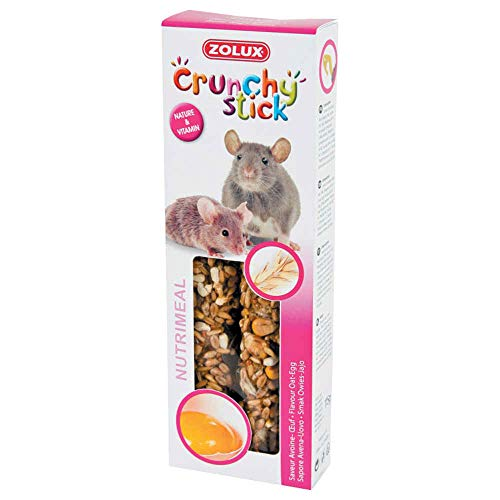 Zolux Crunchy Stick Friandise pour Souris Avoine/Oeuf 115 g