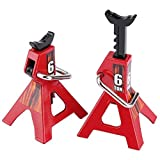 Facibom 2Pcs Jack Stand, Metal Jack Stands Repairing Tool for D90 CC01 SCX10 Wraith RC Truck
