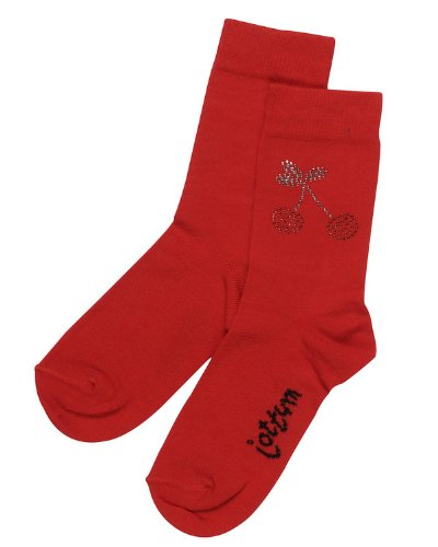 Jottum Socken RANUNKEL rot in Größe 23-26