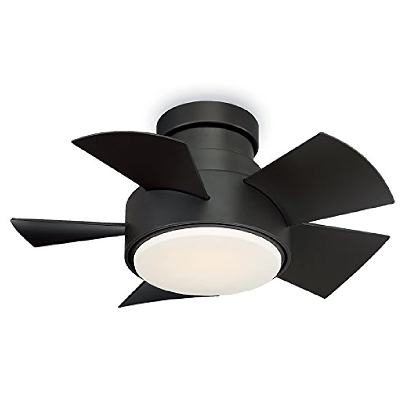 Modern Forms FH-W1802-26L-BZ Vox 26 Inch Five Blade Indoor/Outdoor Smart Fan with Six Speed DC Motor and LED Light in Bronze Finish Works with Nest, Ecobee, Google Home and IOS/Android App,