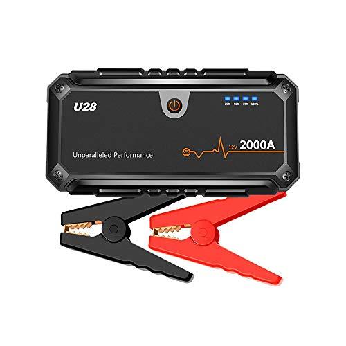 Folconroad 2000A Peak Jump Starter-Pack mit USB Power Bank LED Taschenlampe und Smart Akku Klemmen für 12V KFZ & Boot