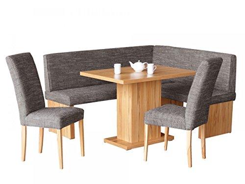 Vaja Eckbankgruppe mit Tisch und 2 Stühlen Kernbuche Dekor