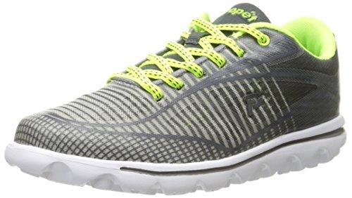 Propet Damen W5100_W(D) Sneaker, Grey/Lime, 38 EU
